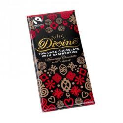 Extra hořká čokoláda Divine se zázvorem a pom.