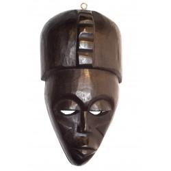 Černá dřevěná maska