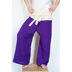 Kalhoty na taiči/turecké fialovožluté 1